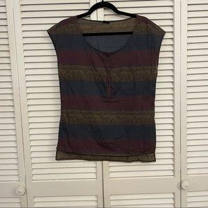 Patagonia Purple/Blue Tribal Print Shirt - Small